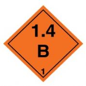 Hazard safety sign - Explosive 1.4B 025